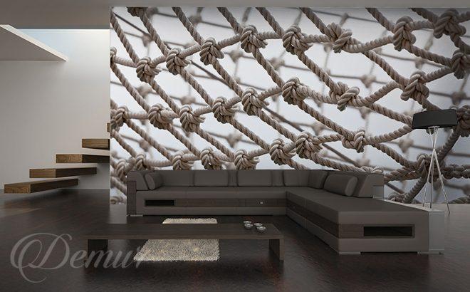 dans le filet de p che style marin papiers peints demur. Black Bedroom Furniture Sets. Home Design Ideas