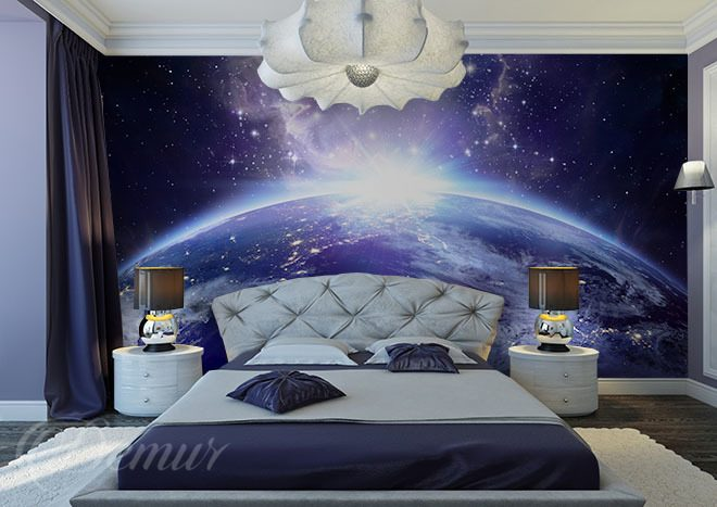 vacances dans l 39 espace galaxie papiers peints demur. Black Bedroom Furniture Sets. Home Design Ideas
