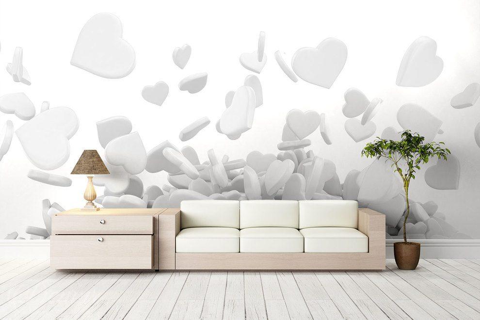 Amour pour le blanc et le gris - 3D - Papiers peints - Demur