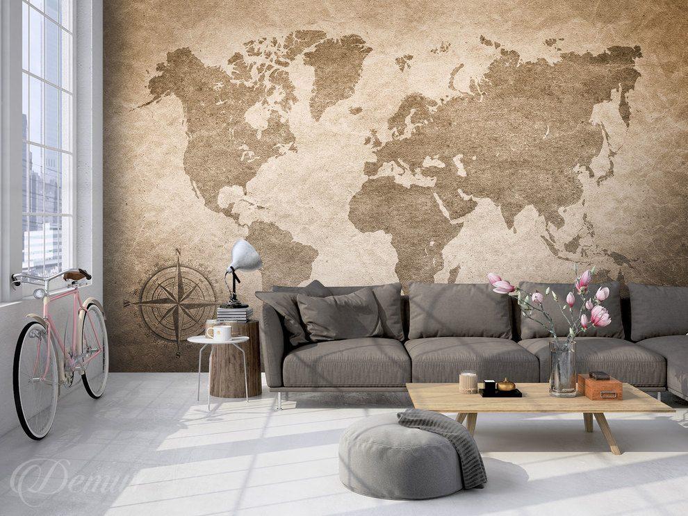 carte du monde en v lo carte du monde papiers peints demur. Black Bedroom Furniture Sets. Home Design Ideas