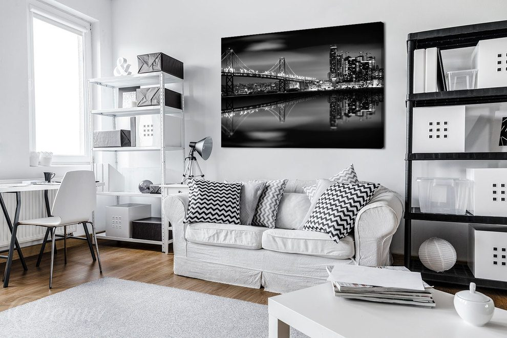 noir blanc et new york
