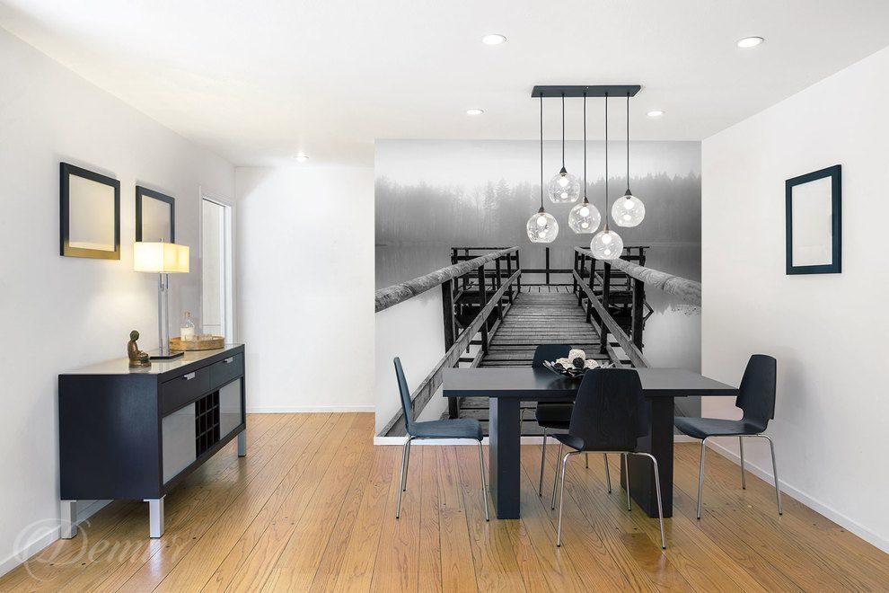 A travers le pont exceptionnel - en noir et blanc - Papiers peints ...