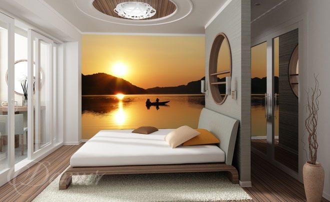 Papier peint pour la chambre coucher le lac magique pou la chambre coucher papiers - Papier peint pour chambre a coucher ...