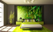 Papiers peints pour la chambre coucher chambre coucher demur for Chambre a coucher marron et vert