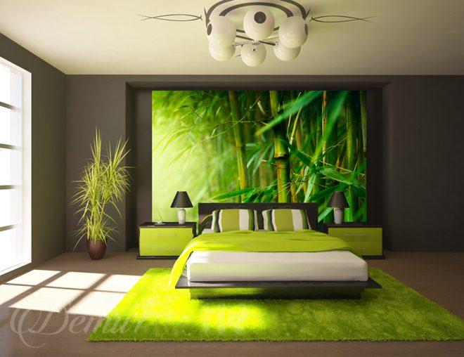 Vert juteux du bambou  pou la chambre à coucher  Papiers