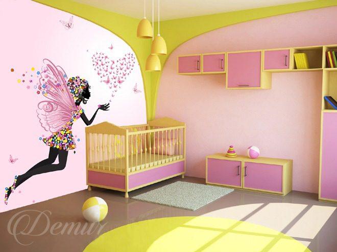 poussi re de f e mur la chambre de la jeune fille papiers peints demur. Black Bedroom Furniture Sets. Home Design Ideas